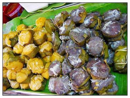 8. Les zongzi thaïlandais Les Thaïlandais mangent des zongzi en avril, lors de la fête de l