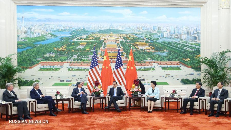 Ли Кэцян встретился с Дж.Керри и Дж.Лью в Пекине