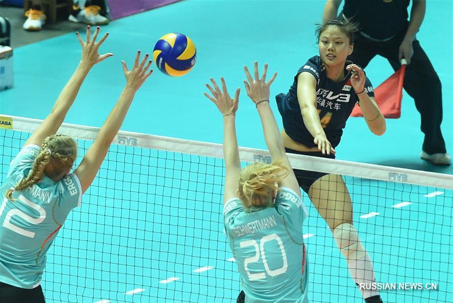 Женская сборная Китая по волейболу обыграла Германию в турнире мирового Гран-при-2016 в китайском городе Нинбо