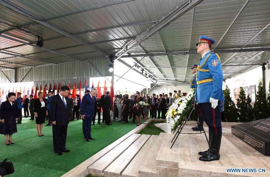 Le président Xi rend hommage aux martyrs chinois tués lors du bombardement de l