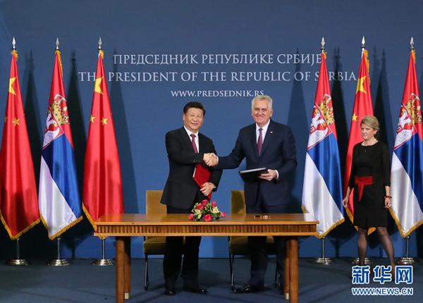 Plus de 20 accords signés à l'occasion de la viste de Xi Jinping à Belgrade