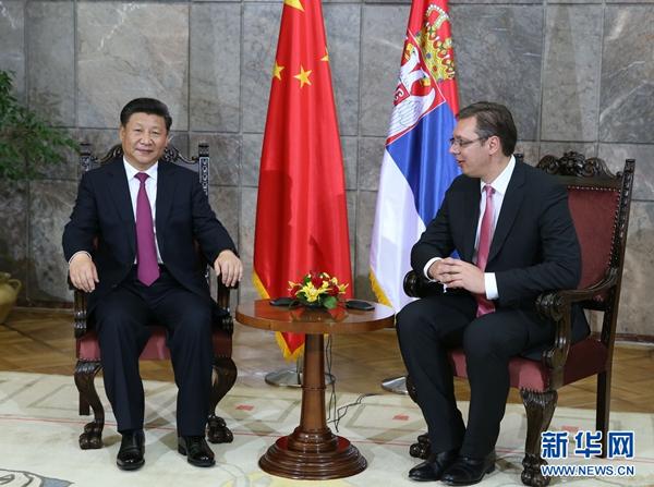 Le président chinois rencontre le Premier ministre serbe et la présidente du Parlement