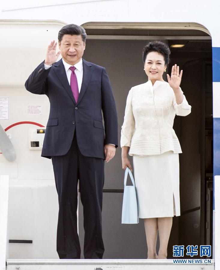 Le président Xi Jinping arrive à Varsovie