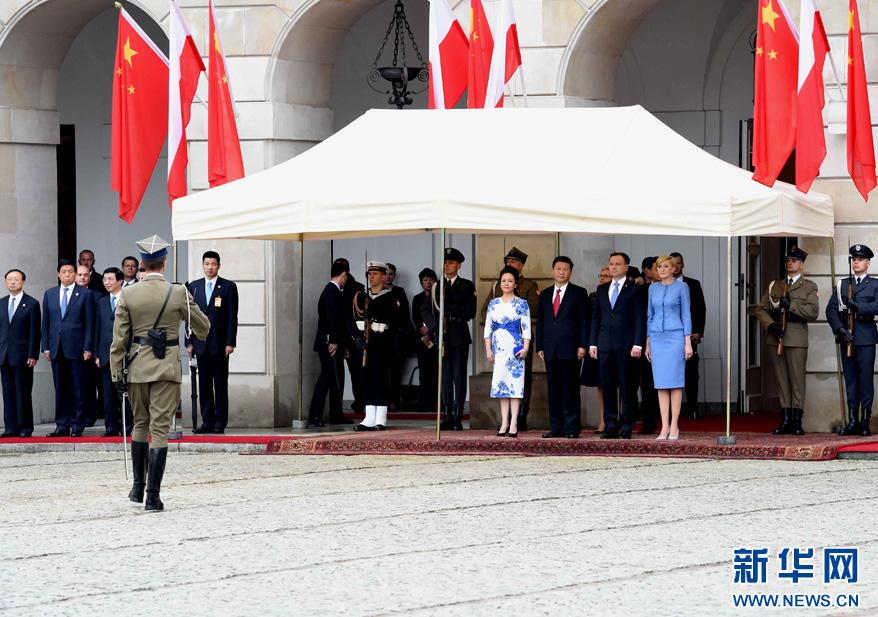 Le président chinois accueilli à Varsovie