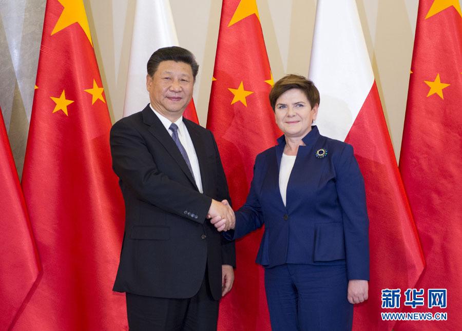 Rencontre avec la Première ministre polonaise et des hauts responsables du Parlement