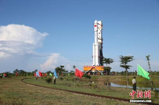 Chinese military have moved a Long March 7 rocket -- one of China