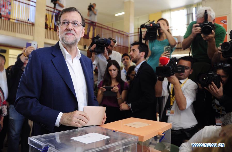 Gobernante Partido Popular ganar elecciones generales en España