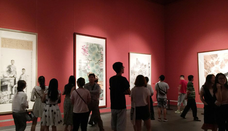 a painting exhibition has opened in Jinan, in east China