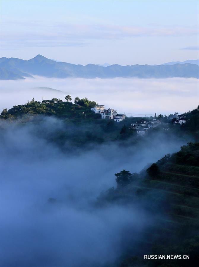 Туман в горах Хуаншань