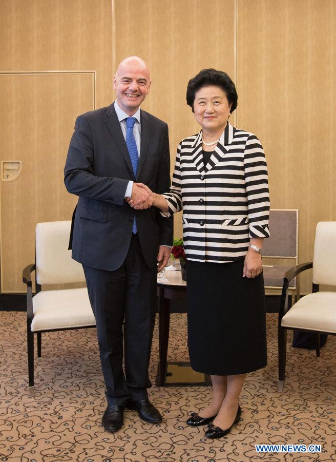 La réforme du football chinois a besoin des conseils et aides de la FIFA, dit un vice-PM chinoise