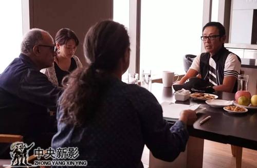 阿巴斯为《杭州之恋》选角色,陈道明老师试镜现场。