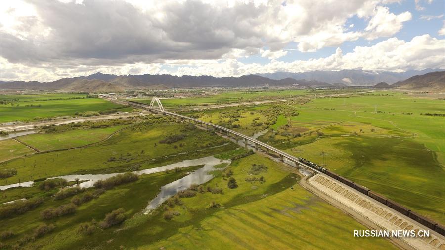 Зеленые просторы Тибетского нагорья