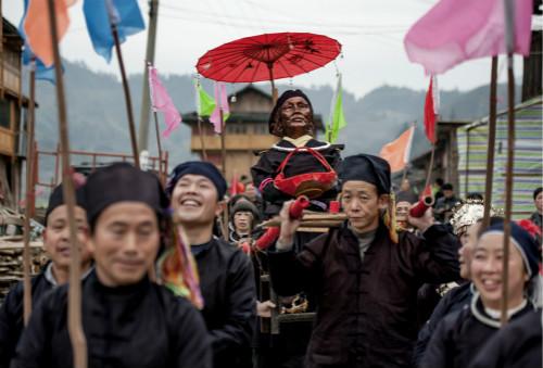 """侗族群众欢度""""祭萨节"""""""