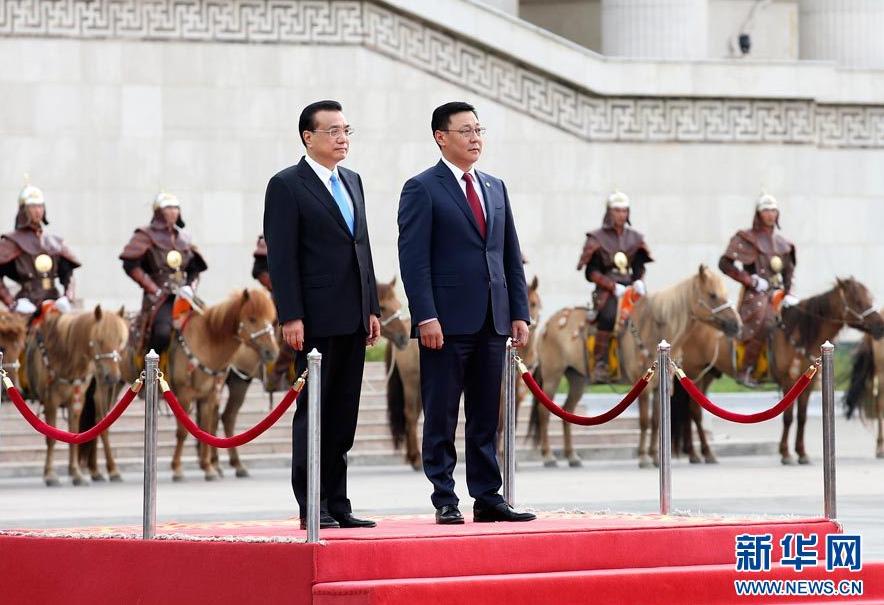 Le premier ministre chinois rencontre son homologue mongol