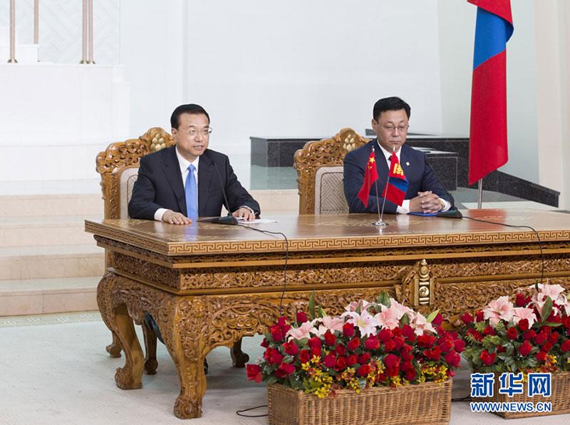 Li Keqiang appelle à un renforcement des relations avec la Mongolie