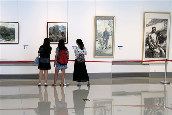 A fine art exhibition by more than 50 artists from Beijing, Tianjin Municipality and Hebei Province has opened in the capital. The exhibtion celebrates the 95th anniversary of the founding of the Communist Party of China.