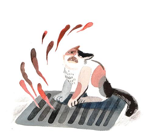 《哭泣的小猫》配图