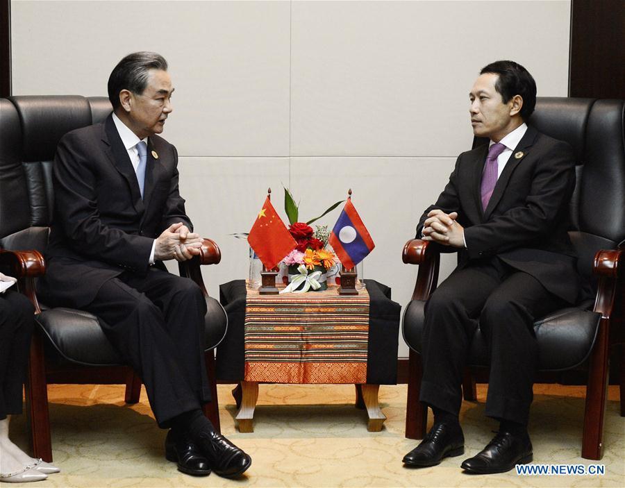 Le ministre chinois des Affaires étrangères salue la position juste et objective du Laos sur la mer de Chine méridionale