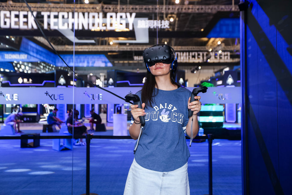 Virtual reality combined with high-tech shopping? That was the case over the weekend in Shanghai.