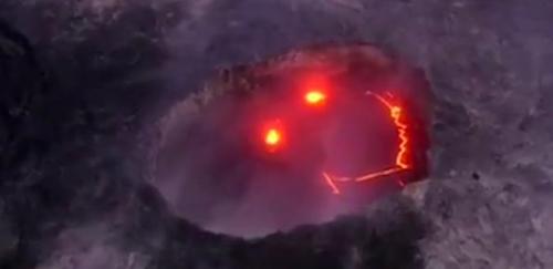 夏威夷火山会微笑 喷发岩浆吸引观光客_新闻