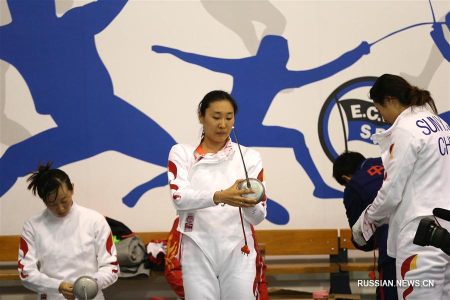 Китайские спортсмены продолжают подготовку к соревнованиям в Бразилии