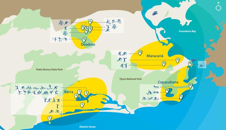 Районы Рио-де-Жанейро на летней Олимпиаде