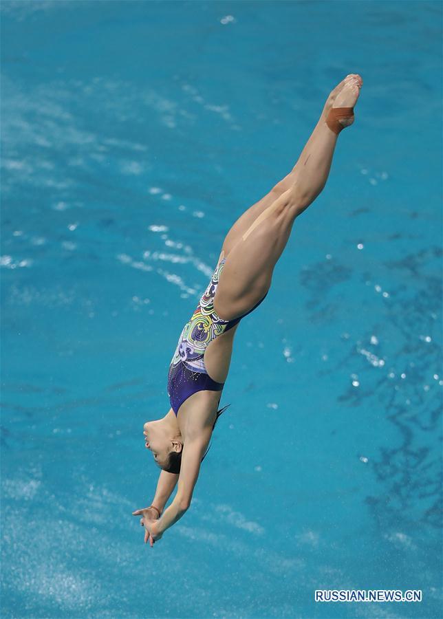 Китайская команда по прыжкам в воду провела первую тренировку в Рио