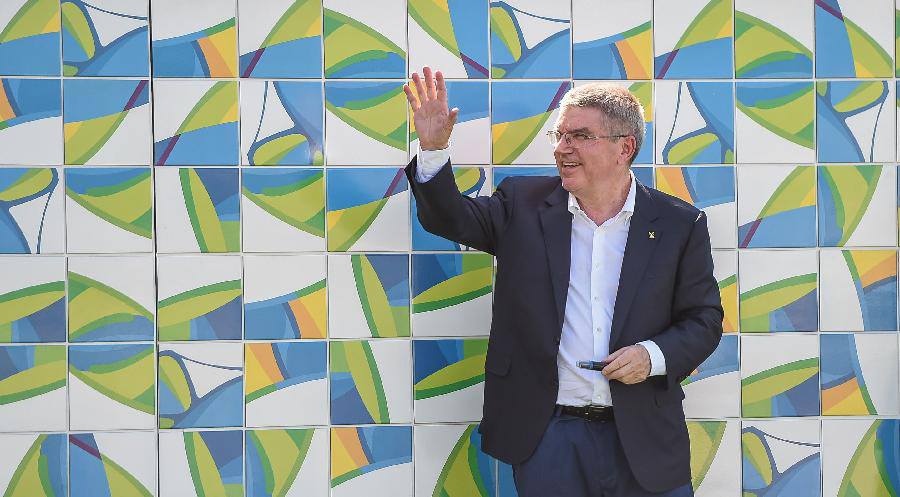 The Olympic Truce Wall has been unveiled in the Olympic Village of the Rio Olympics on August 1, 2016. [Photo: Xinhua]