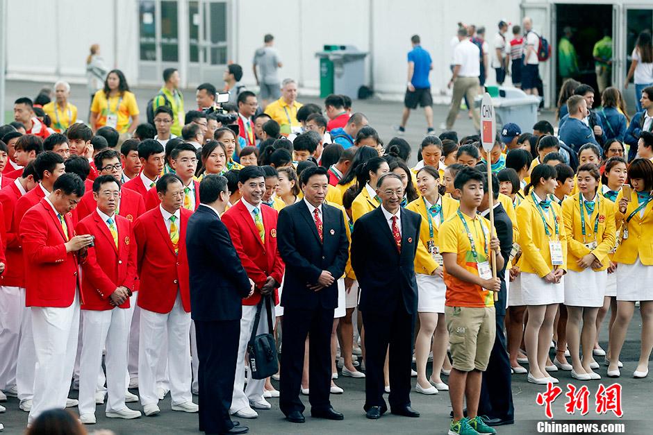 В олимпийской деревне в Рио состоялась церемония поднятия государственного флага Китая