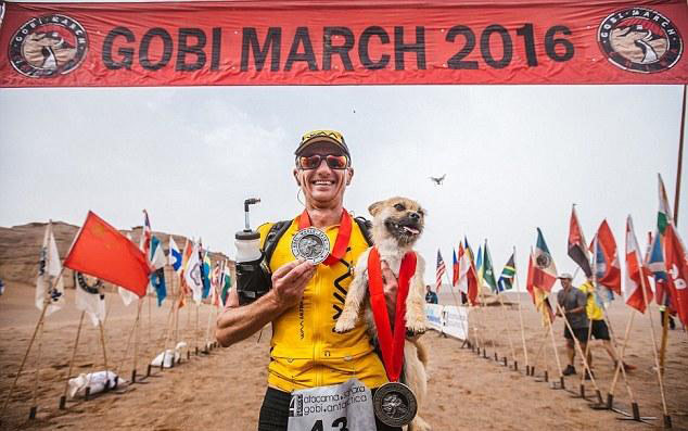Edinburgh-based Dion Leonard, who met a stray dog on a 250km ultra-marathon across the Gobi desert in China, is determined to bring the dog to the UK.