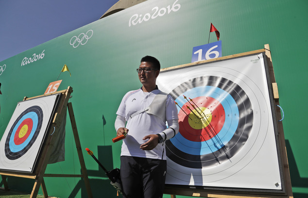 South Korean archer shoots 700 in ranking rounds of competition