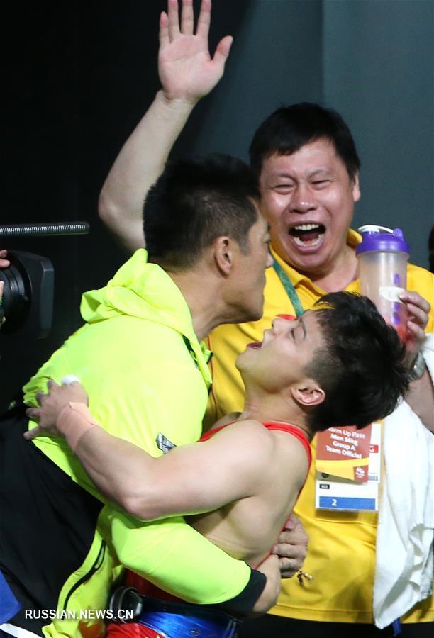 Олимпиада-2016 -- Тяжелая атлетика: Лун Цинцюань с мировым рекордом завоевал золото