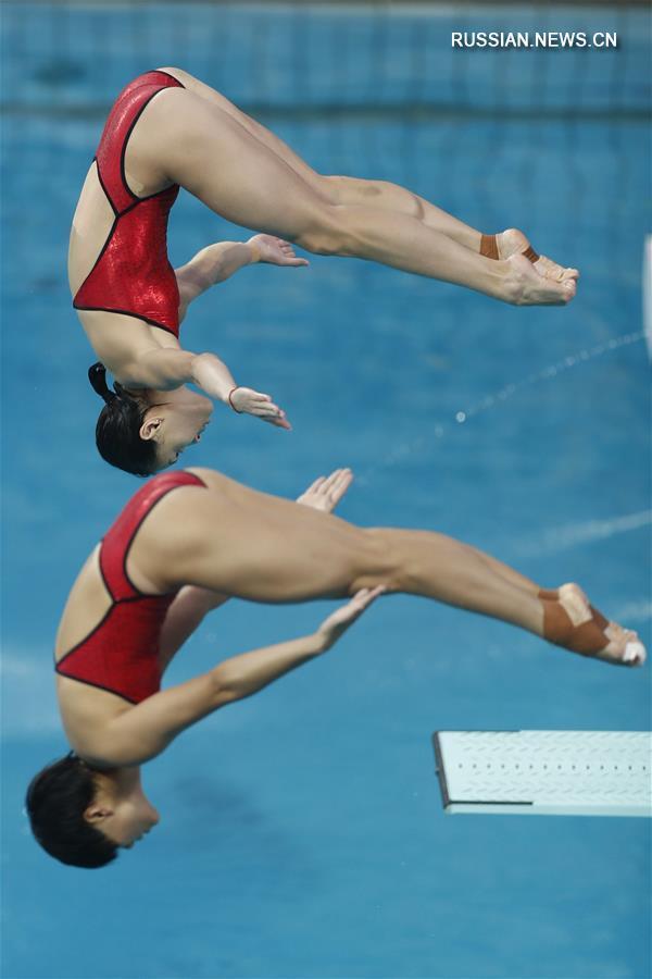 Олимпиада-2016 -- Прыжки в воду: Китаянки У Минься и Ши Тинмао завоевали золотые медали в синхронных прыжках с трёхметрового трамплина