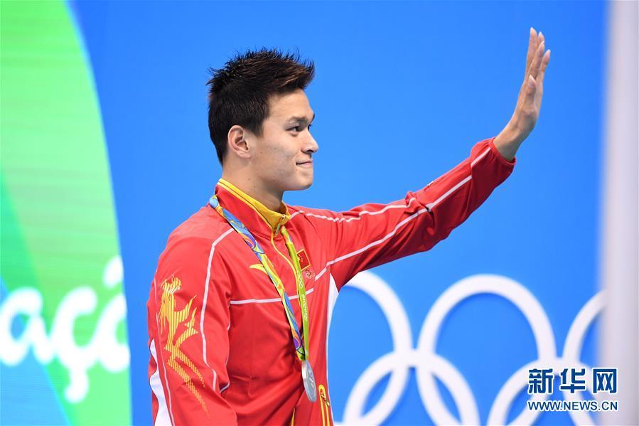 نال السباح الصيني سون يانغ الميدالية الفضية الثانية للصين