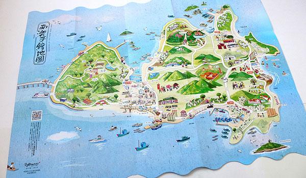 一张可爱的手绘地图,带你畅游南澳岛