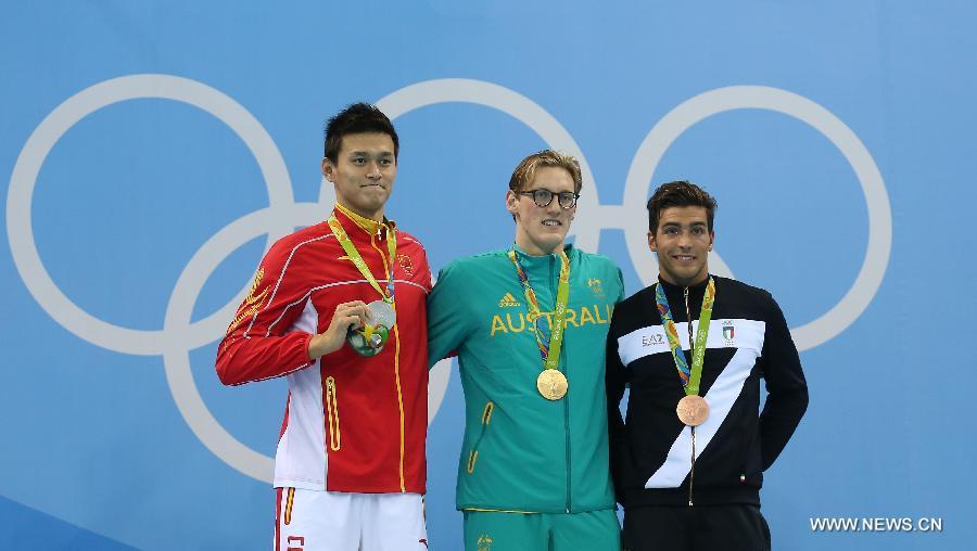 Le CIO examinera le commentaire du nageur australien Horton sur son rival chinois