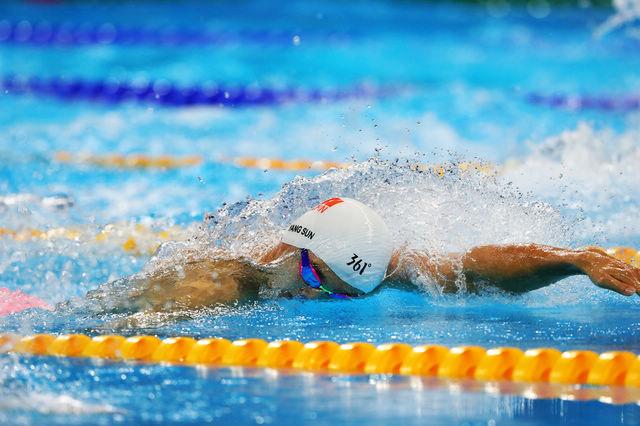 Китайский пловец Сунь Ян завоевал золото на дистанции 200 метров кролем