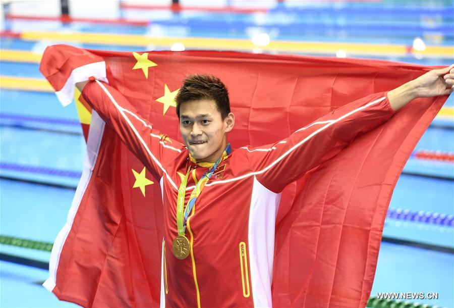 JO de Rio : le Chinois Sun Yang remporte le 200m nage libre