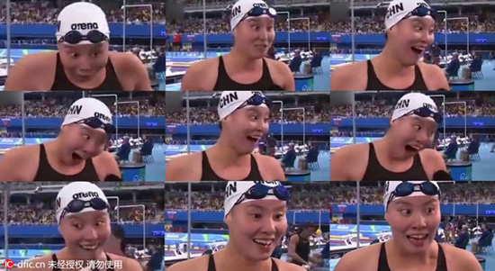 Les expressions faciales de la nageuse chinoise Fu Yuanhui deviennent virales