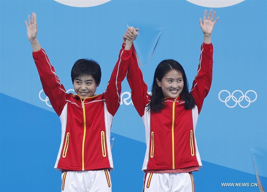 JO de Rio : la Chine remporte un troisième titre en plongeon synchronisé