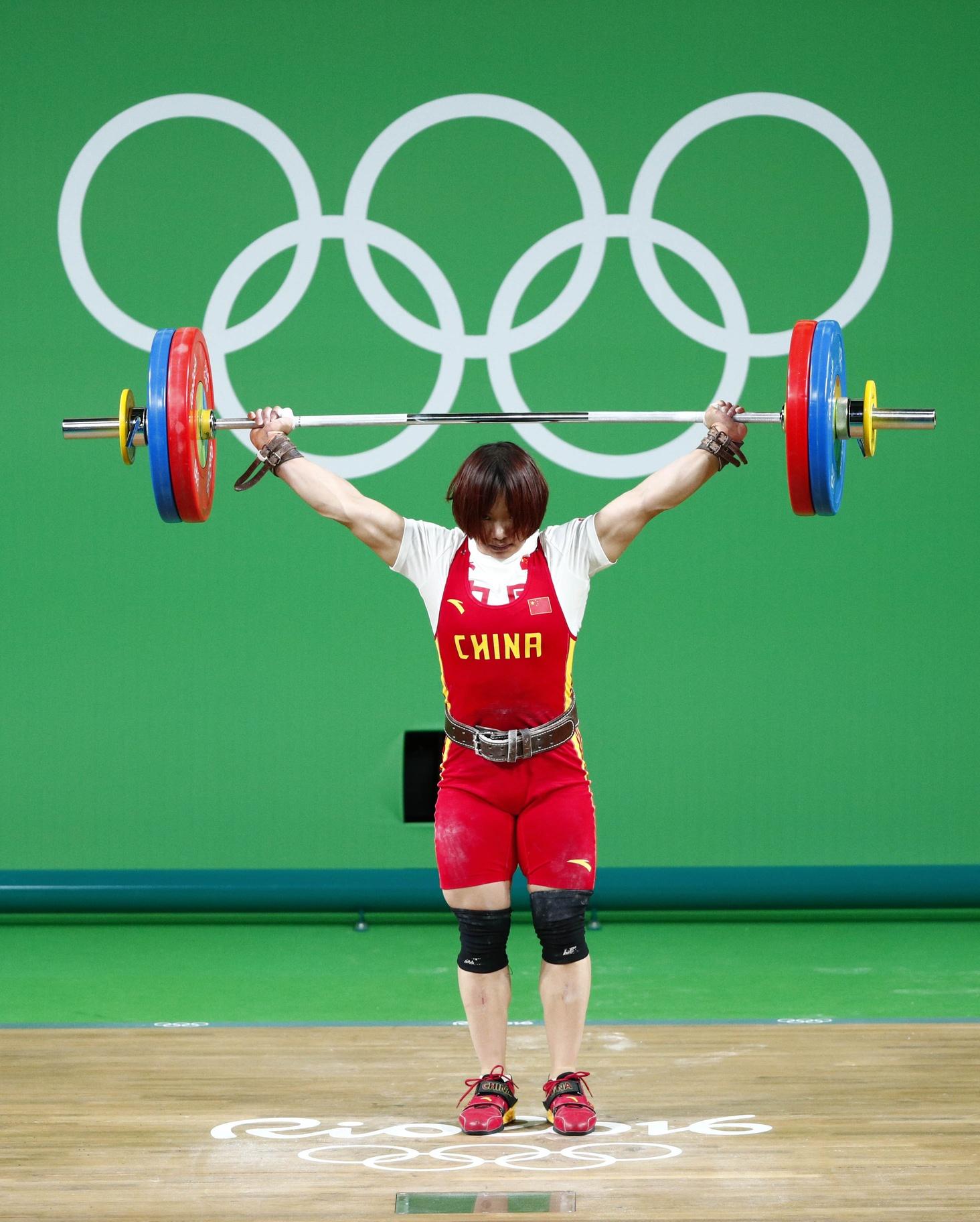 [高清优游品牌国际图]优游品牌国际国选手向艳梅夺得举重69千克级金牌