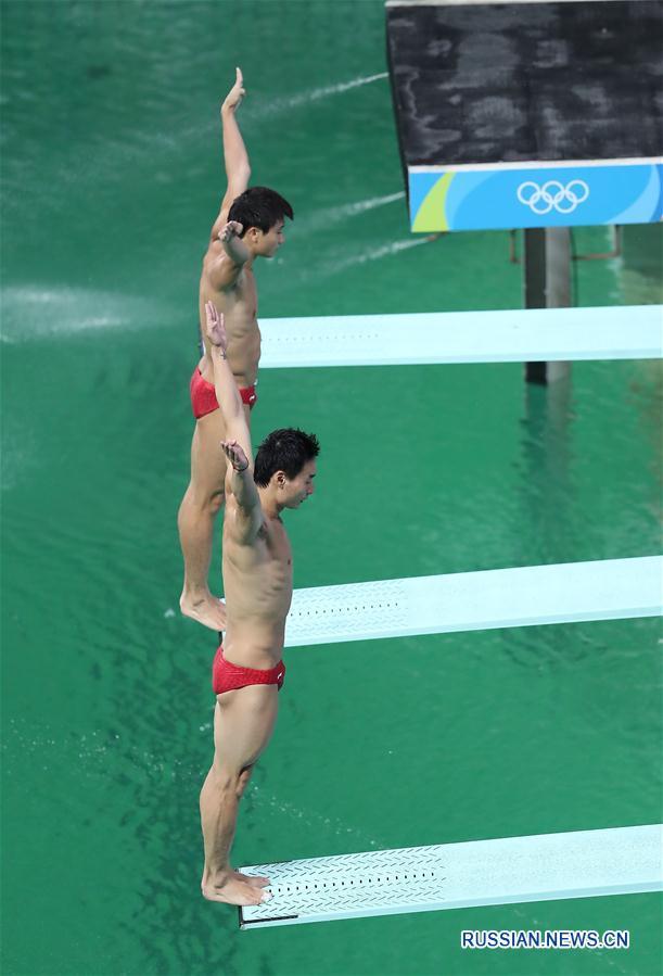 Китайцы Цинь Кай и Цао Юань завоевали бронзу в синхронных прыжках в воду с 3-метрового трамплина на Олимпиаде в Рио