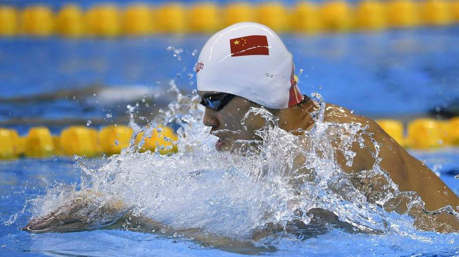 Китайский пловец Ван Шунь завоевал «бронзу» в соревнованиях на дистанции 200 метров комплексным плаванием