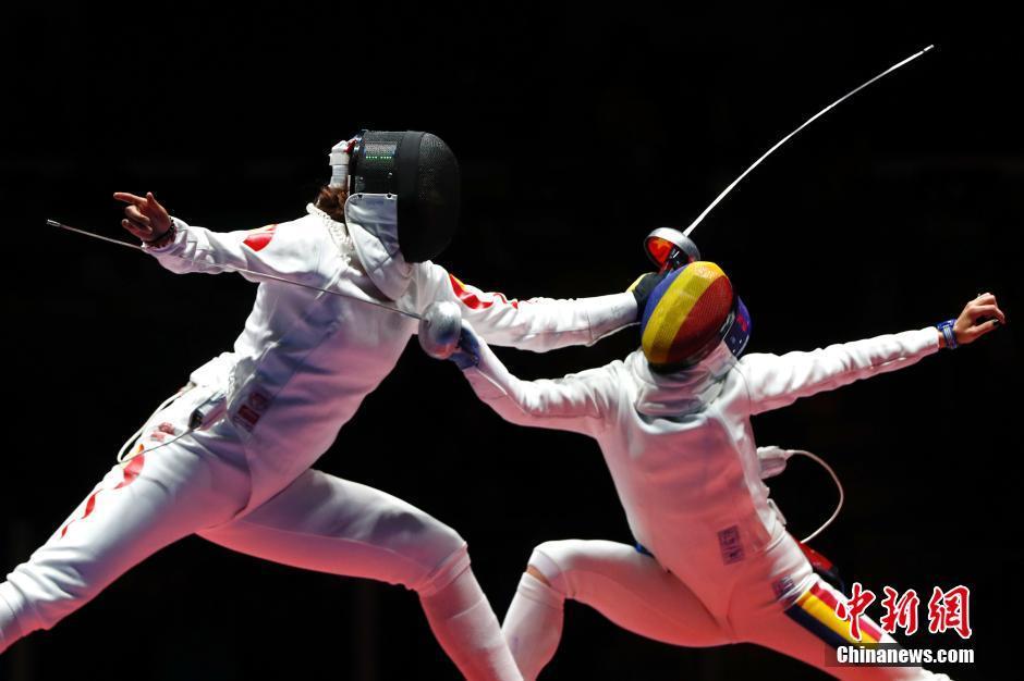 الصين تخسر أمام رومانيا في المبارزة بالسيف للسيدات