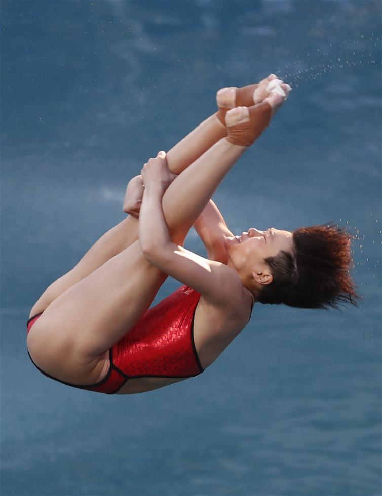 Китаянка Ши Тинмао завоевала золотую медаль в прыжках в воду с 3-метрового трамплина на Олимпийских играх в Рио-де-Жа