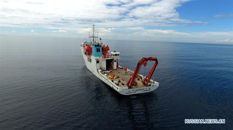 """Китайское судно """"Чжан Цзянь"""" проводит океанографические исследования Новобританского желоба"""