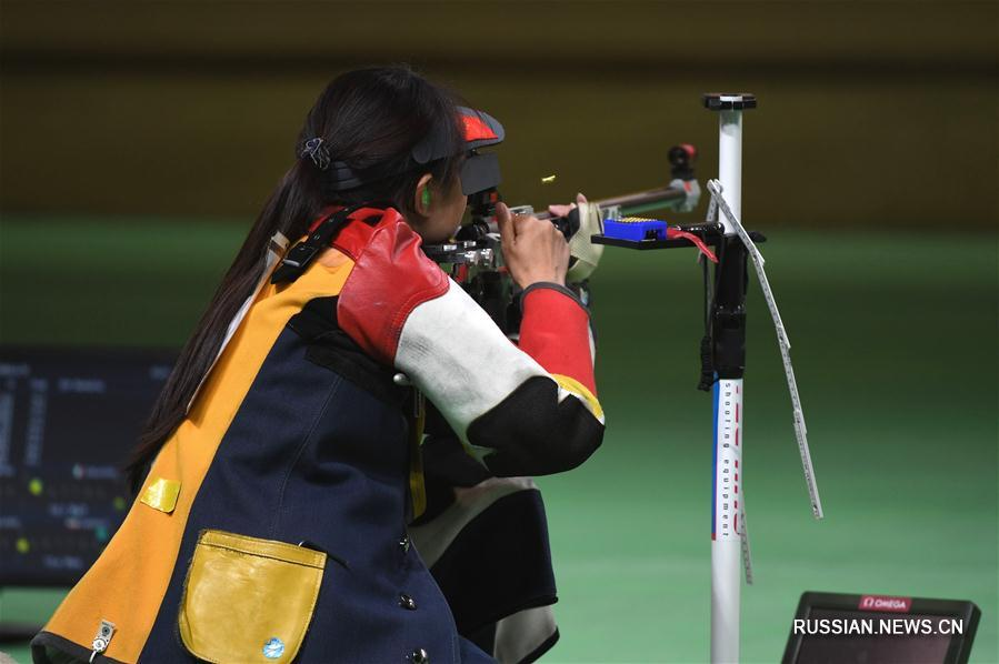 Чжан Биньбинь завоевала серебро в стрельбе из винтовки с трех позиций с 50 метров на Олимпиаде-2016