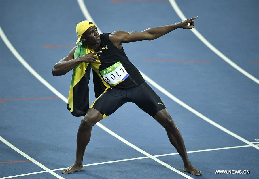 Bolt wins third Olympic men's 100m title - CCTV News ...