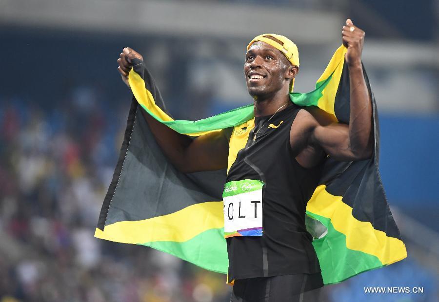JO 2016 : Usain Bolt sacré pour la troisième fois champion olympique du 100m