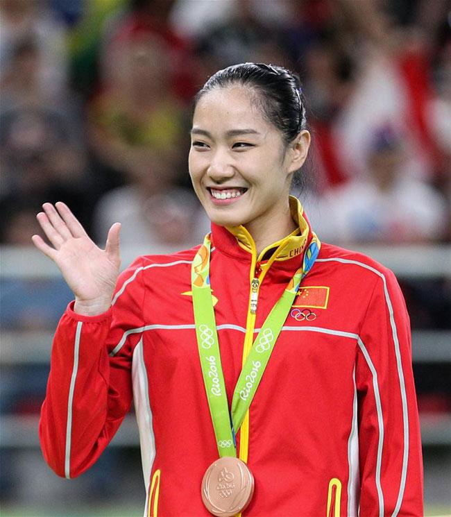 La Chinoise Li Dan a terminé au 3ème rang au trampoline